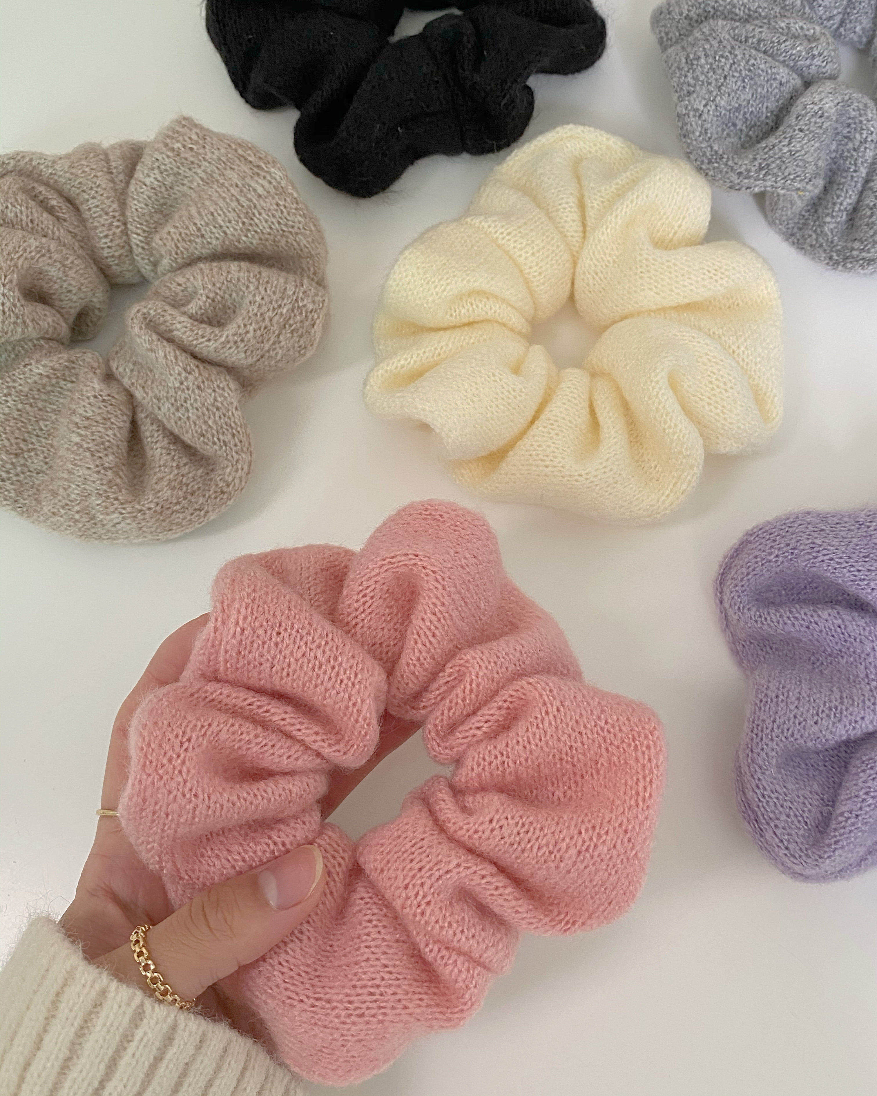 towel knit scrunchy (6 color)