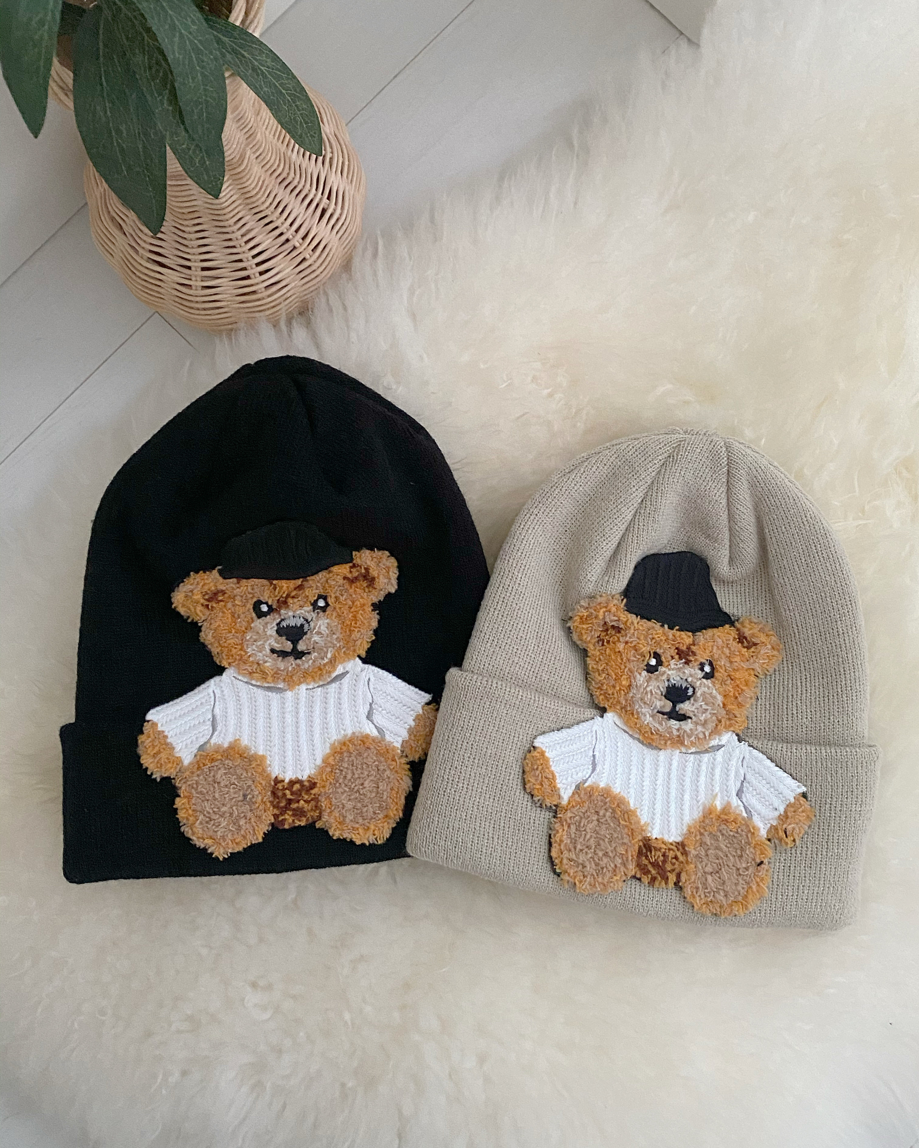 sweet bear beanie (2 color)