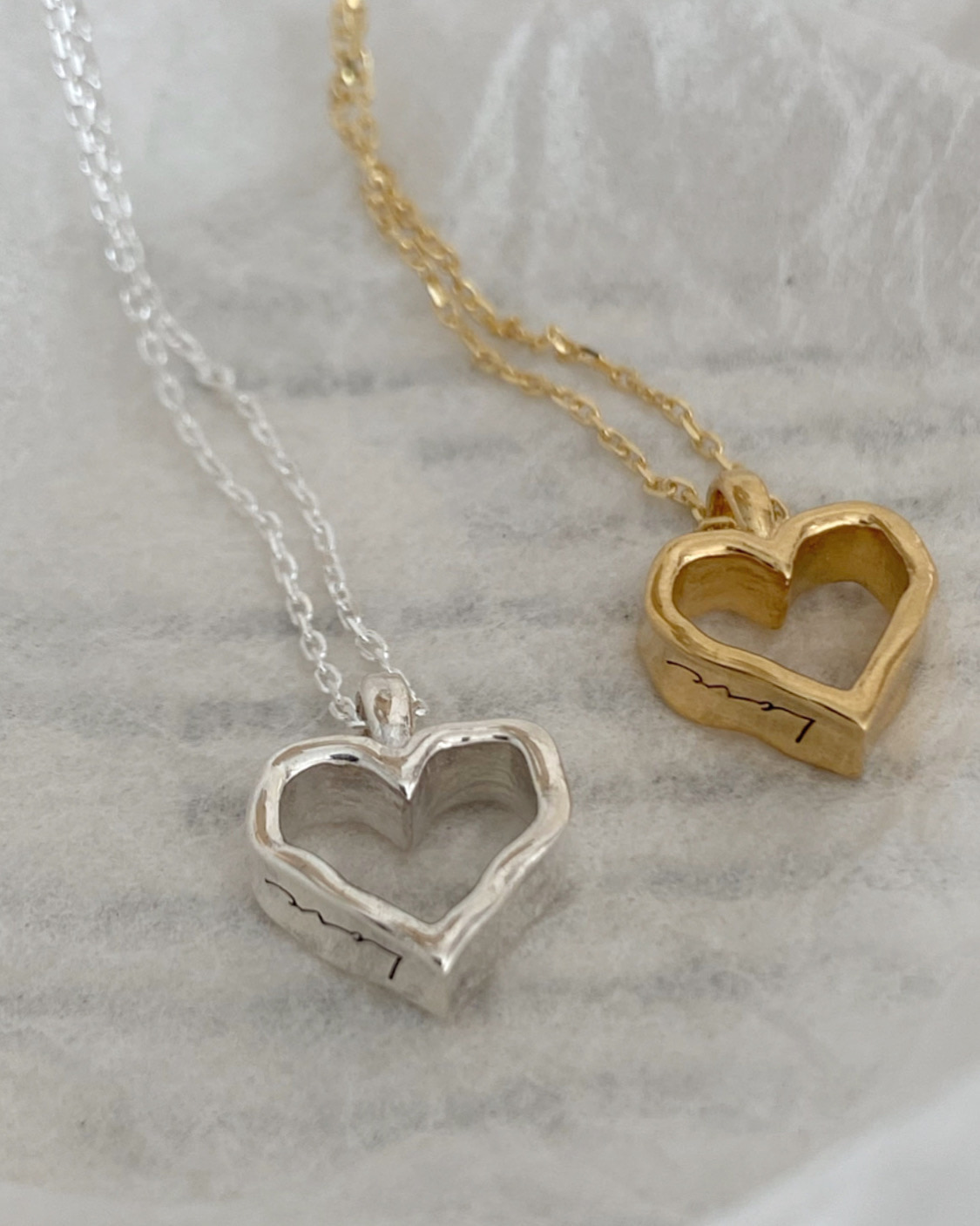 [92.5 silver, 각인가능] amo te necklace (2 color)