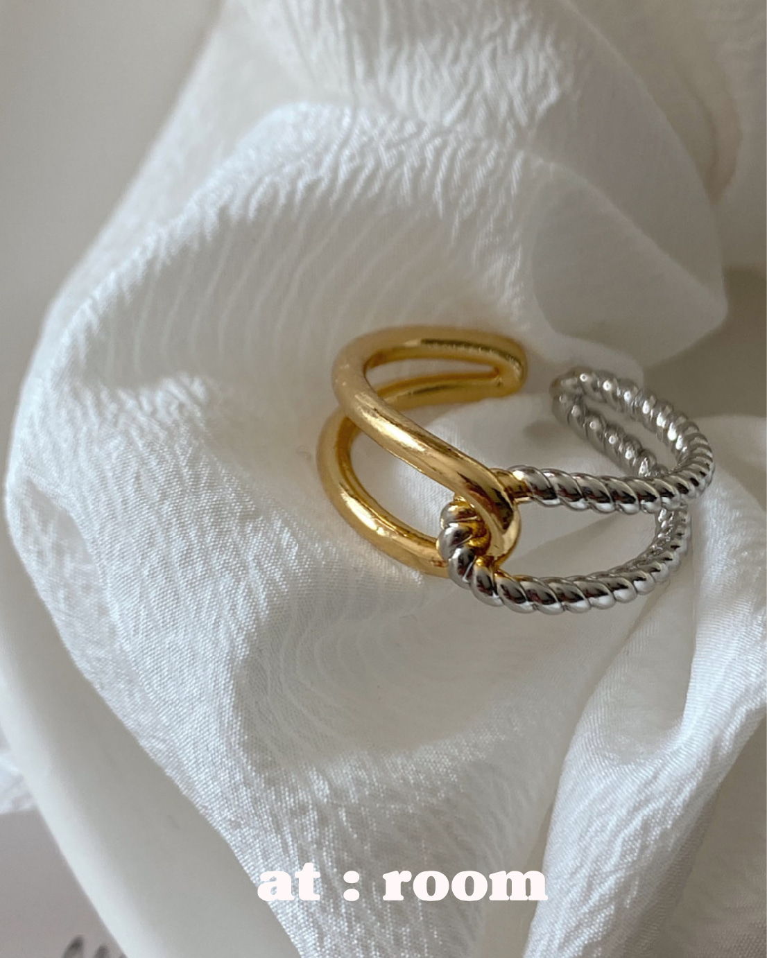 two-tone knot ring