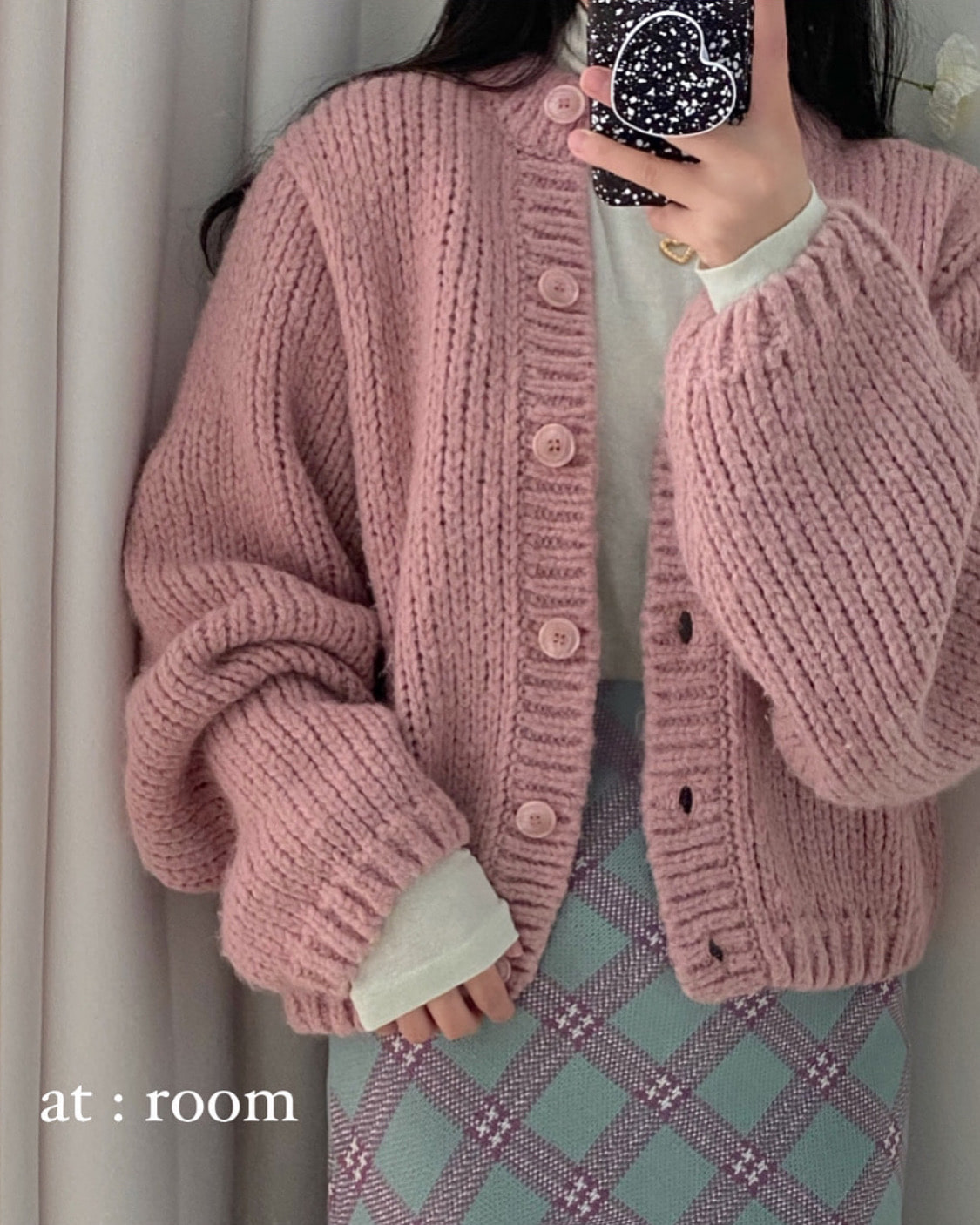 season alpaca cardigan (2 color)